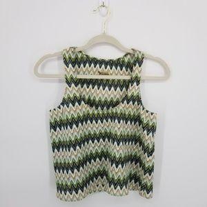 Show Me Your Mumu Boho Chevron Crochet Tank Sz S